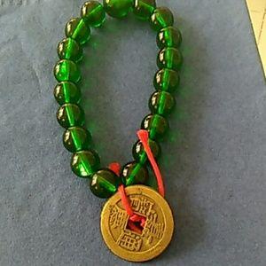 Lucky coin beaded bracelet